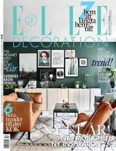 Elle Decoration Front Cover Cuero Design Butterfly Chair February 2017