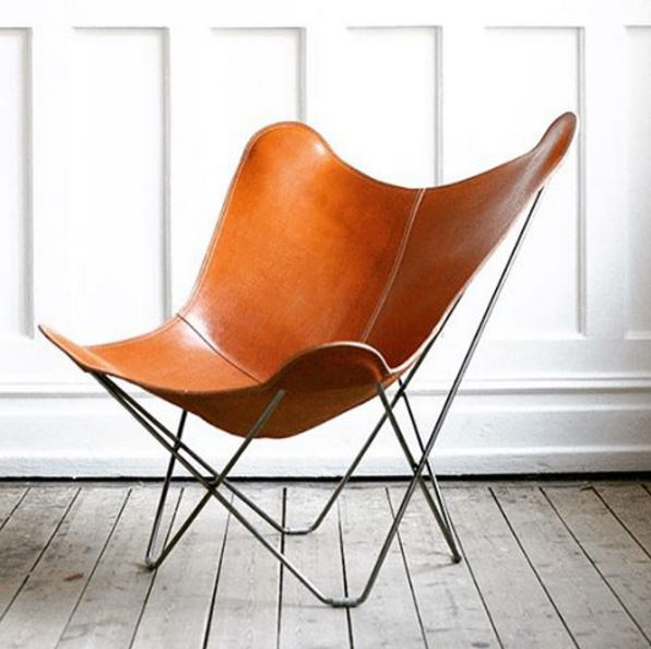 Combutterfly Chair Designer : Leather Butterfly Chair - Pampa Mariposa  CUERO