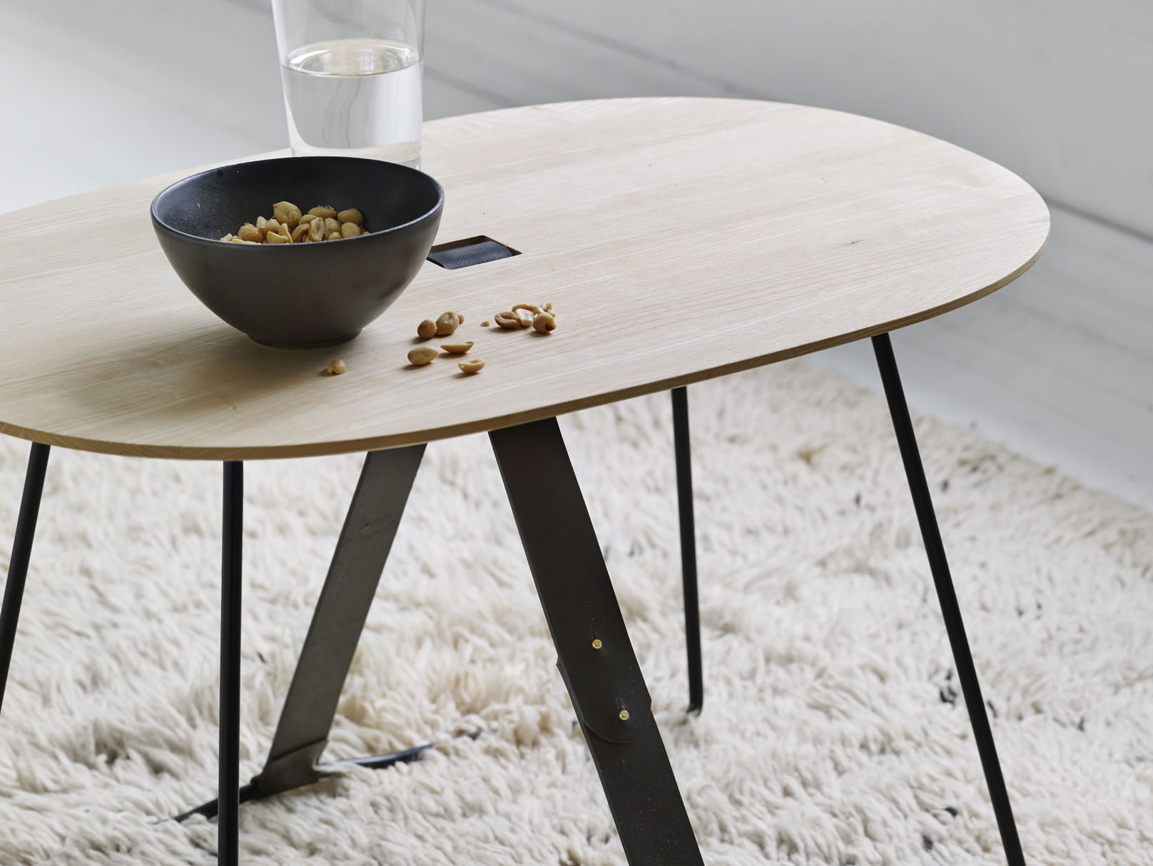 Modern wod side table