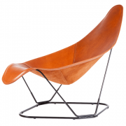 Modern Leather Armchair. Abrazo