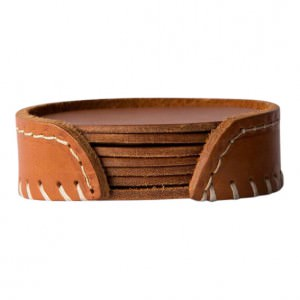 Leather Coasters Pampa Polo