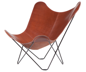 Oak Coloured Butterfly Chair, Pampa Mariposa