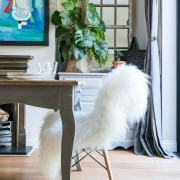 icelandic sheepskin by dinner table LondonK