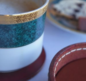 Leather Coasters Closeup