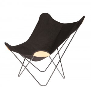 Black Canvas Butterfly Chair Black Frame