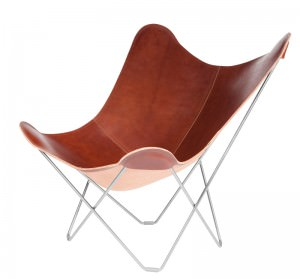 Pampa Mariposa BKF chair oak chrome frame
