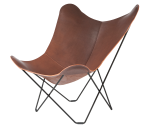 Leather Butterfly Chair Luxury, Chocolate Colour
