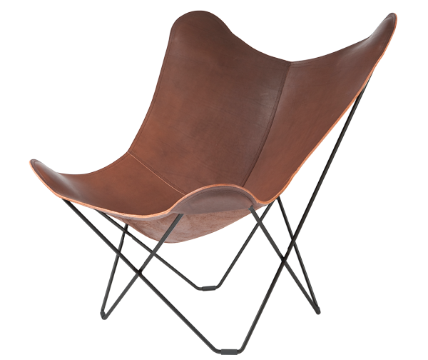 Combutterfly Chair Designer : Leather Butterfly Chair Luxury, Chocolate Colour