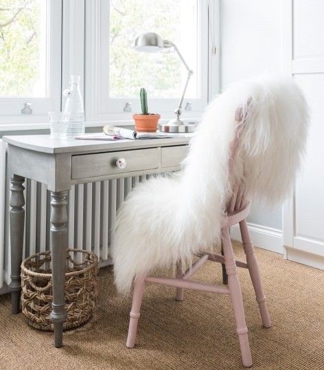 sheepskin decorating chair