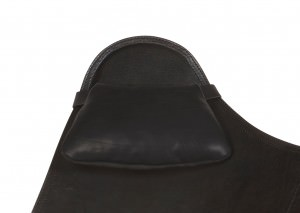 Black Leather Cushion for BKF Butterfly Chair