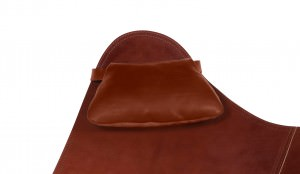 Oak Leather Cushion for Butterfly Chair