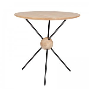 Small Round Wood Side Table Juiter: Jupiter