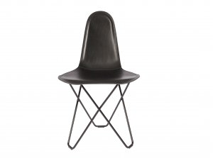 Modern Leather Dining Chair - Cactus Black
