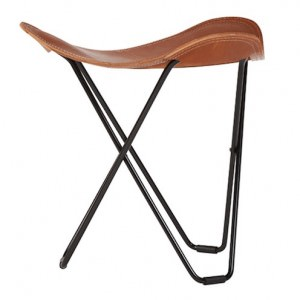 Leather Stool Flying Goose