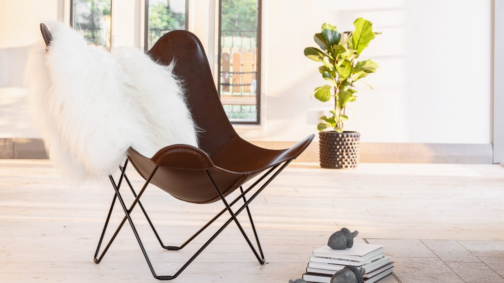 Leather Butterfly Chair Moose Leather
