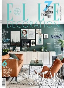 Elle Decoration Front Cover with Pampa Mariposa