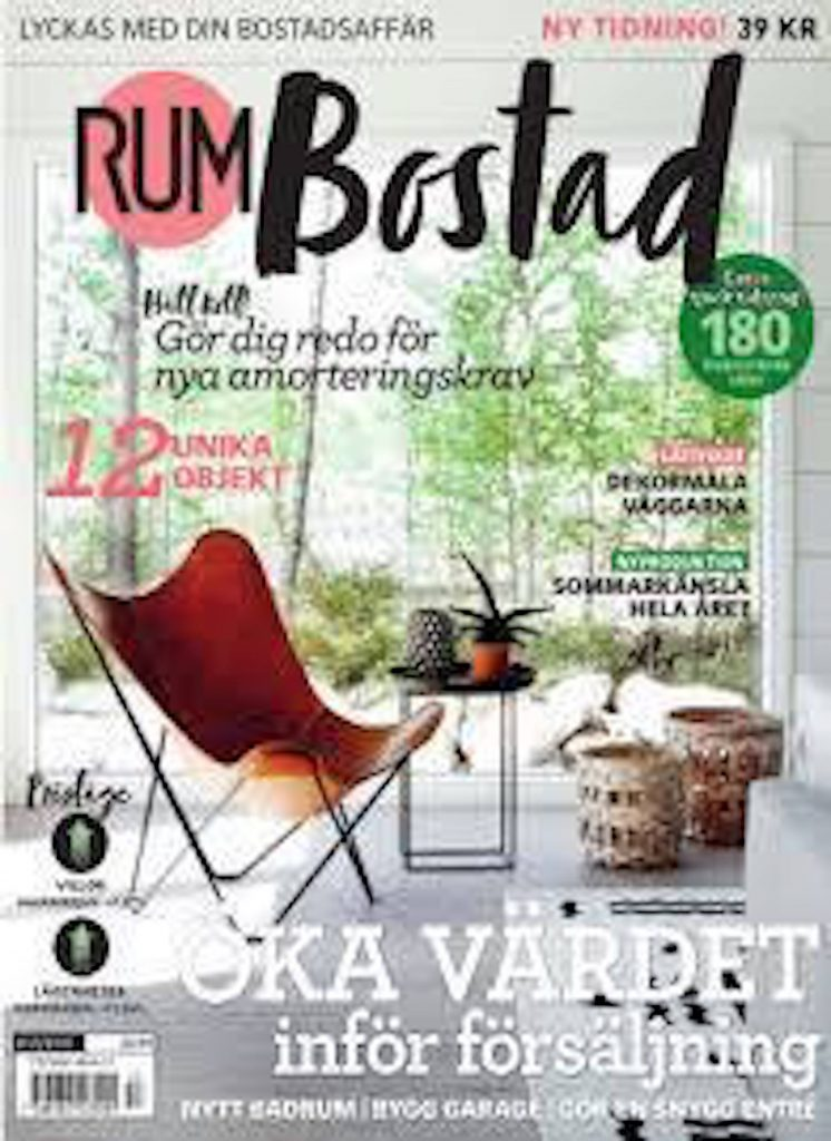 Rum Bostad Front Cover With Pampa Mariposa
